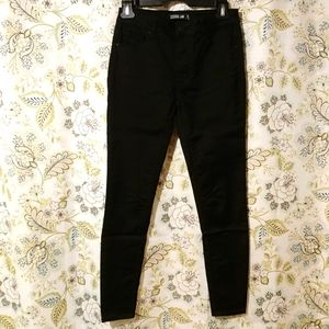 3/50 Lord & Taylor High Rise Skinny Pants Black 25